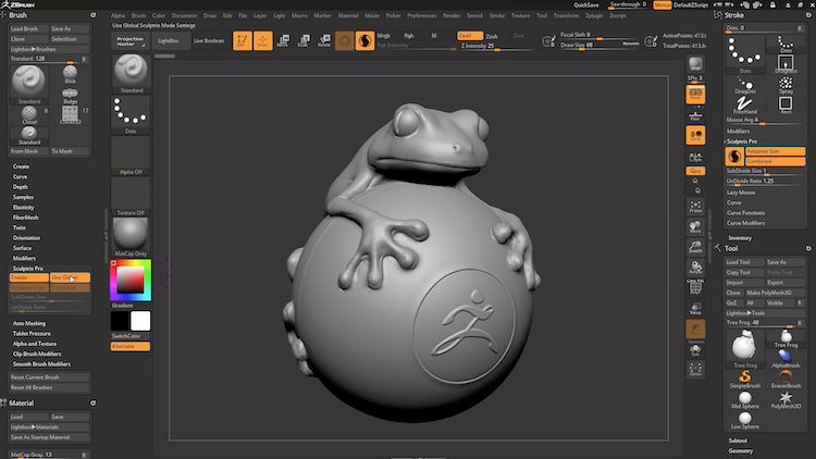 ZBrush by Pixologic- Best 3d modeling software