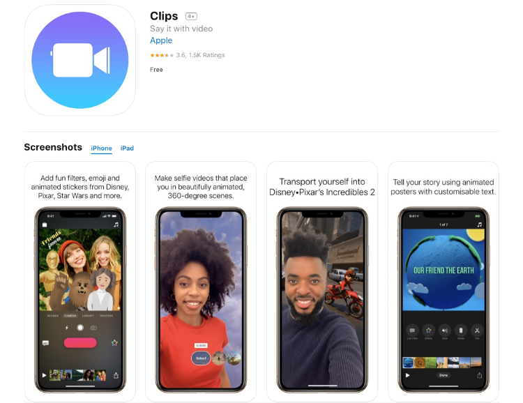 Apple Clips - Free Video Editing Apps