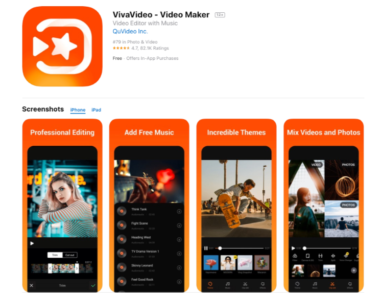 VivaVideo - Video Maker - Video Editing App
