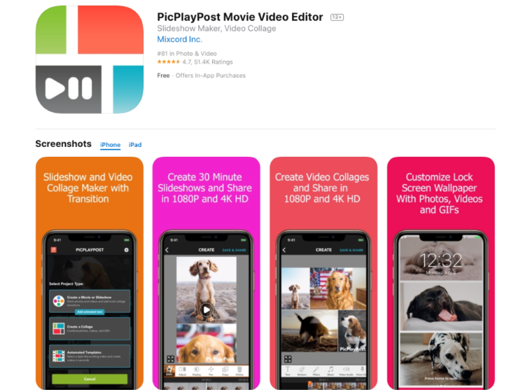 PicPlayPost Movie Video Editor