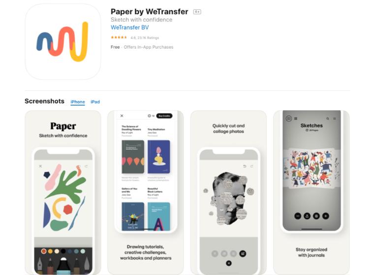 Paper Wetransfer - free drawing app