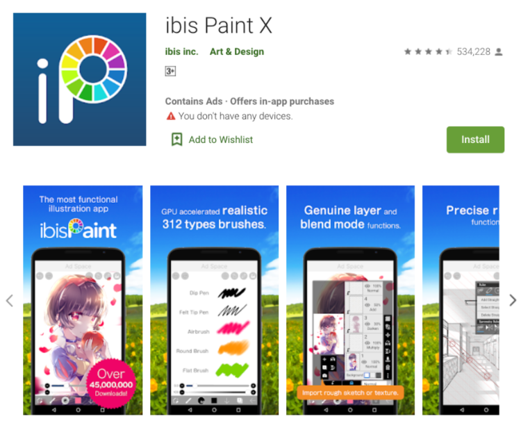 ibis Paint X - best drawing app for android