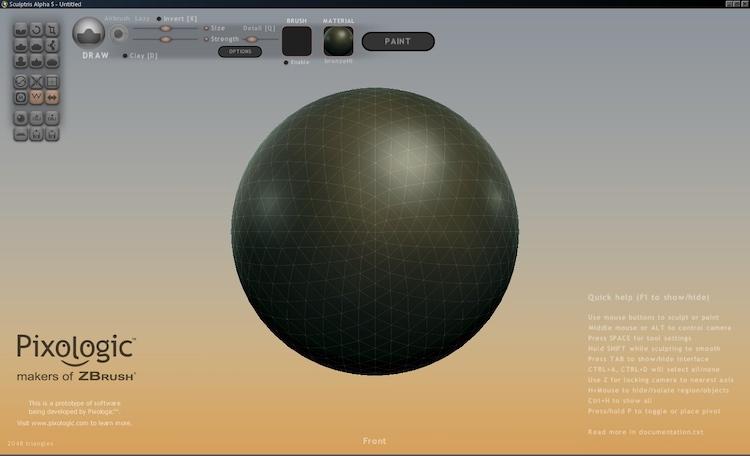 Sculptris - 3D drawing app