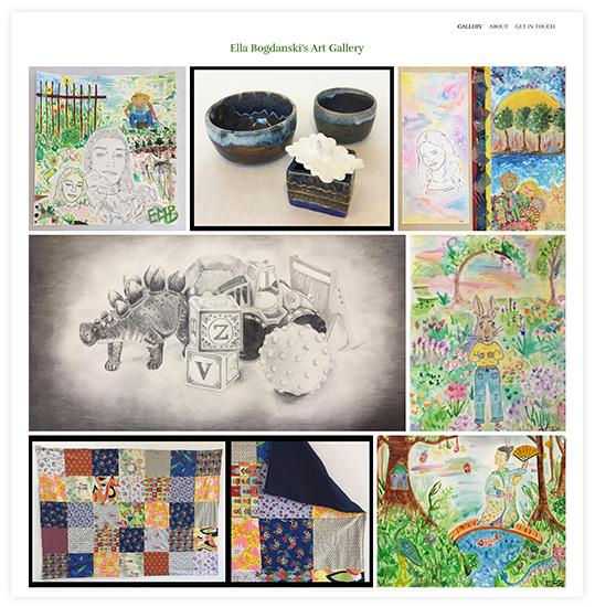 Marie Bogdanski Art Website