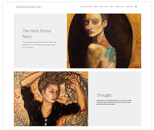 Yasmin Nameer Student Art Portfolio Website