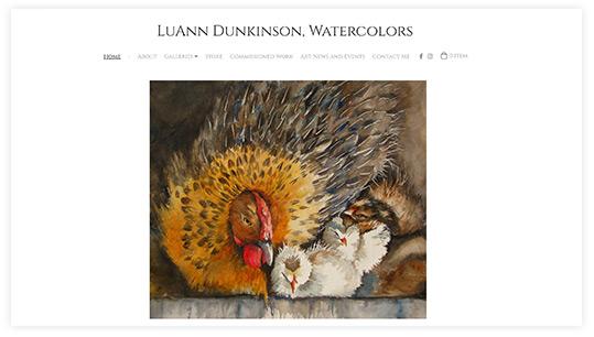 Luann Dunkinson Artist Website