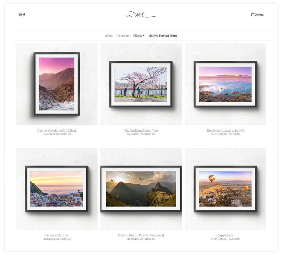Fine Art Print Store on Pixpa