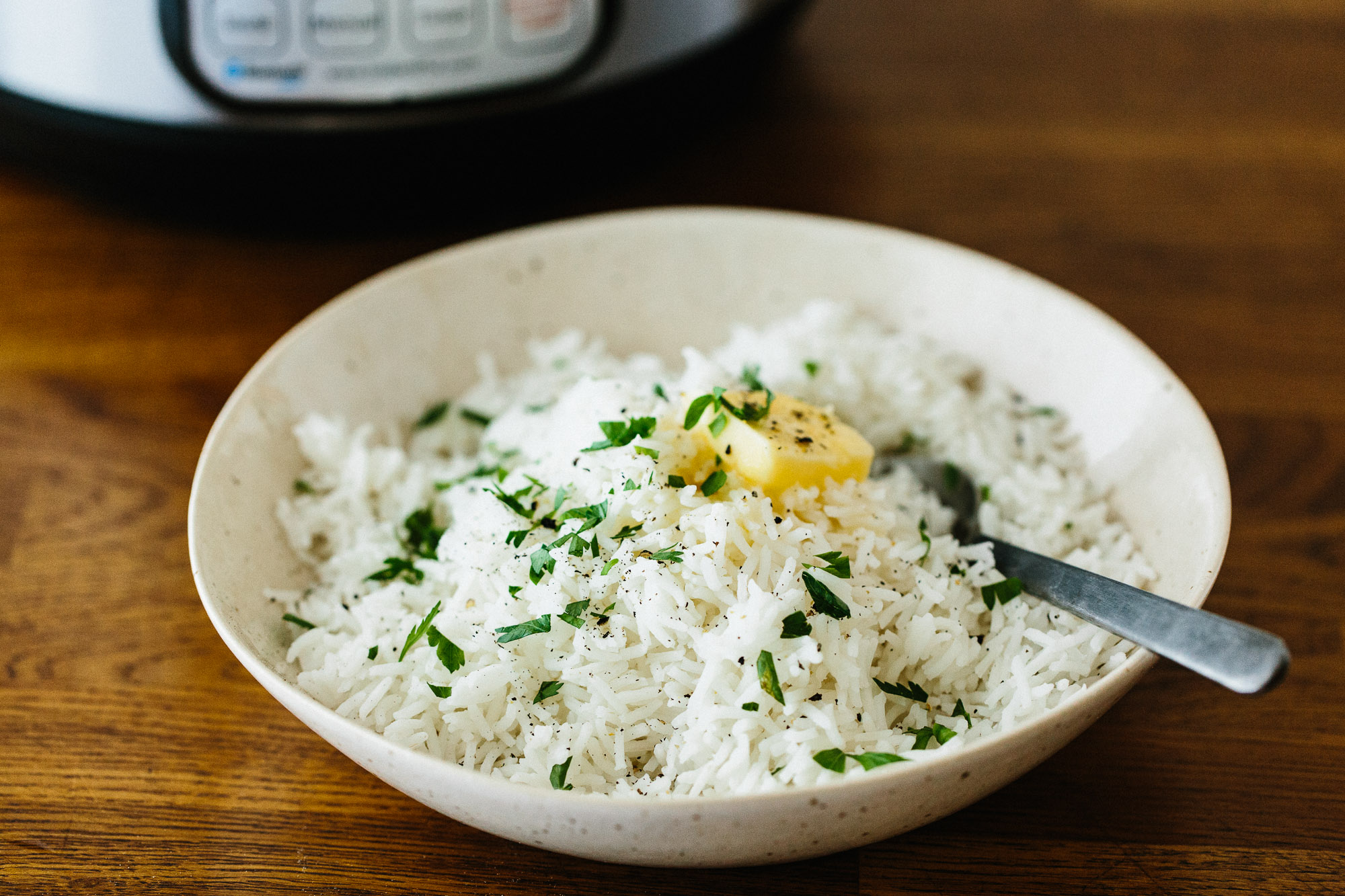How to cook steamed rice in a pressure cooker