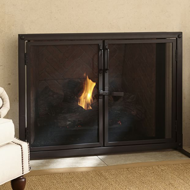 14 Modern Fireplace Screens For Every Budget Apartment