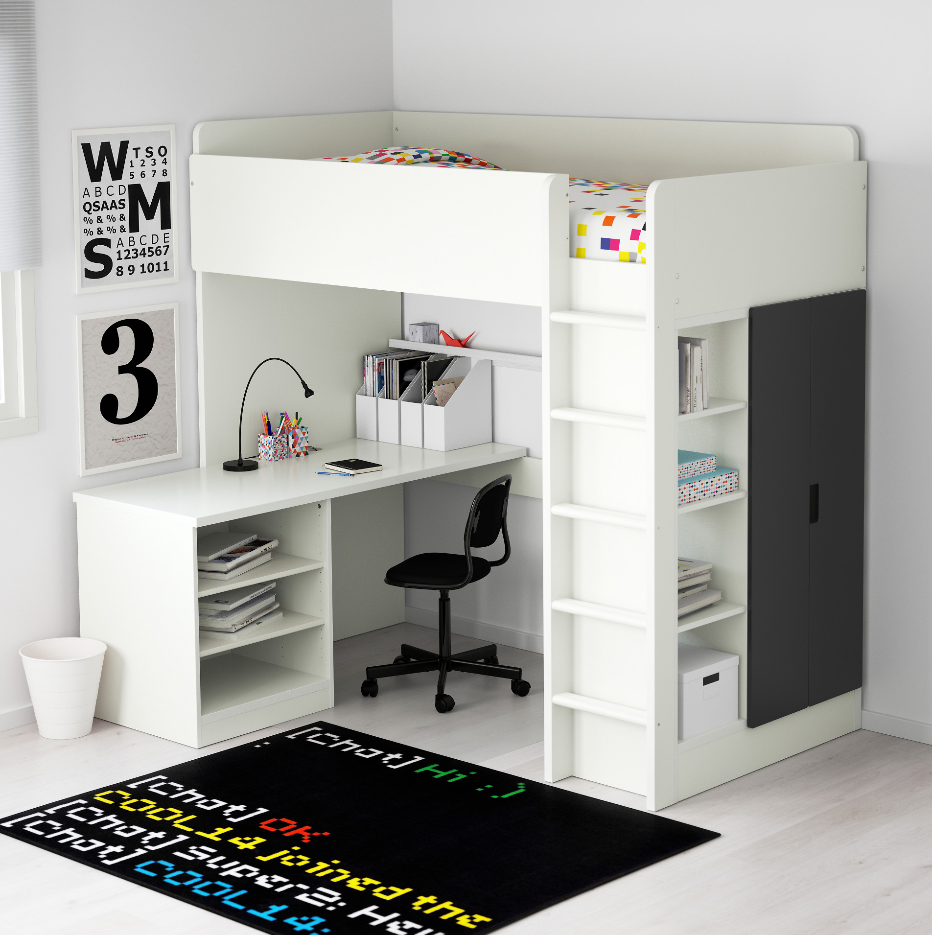 Adult Loft Bed With Desk STUVA Loft Bed Frame