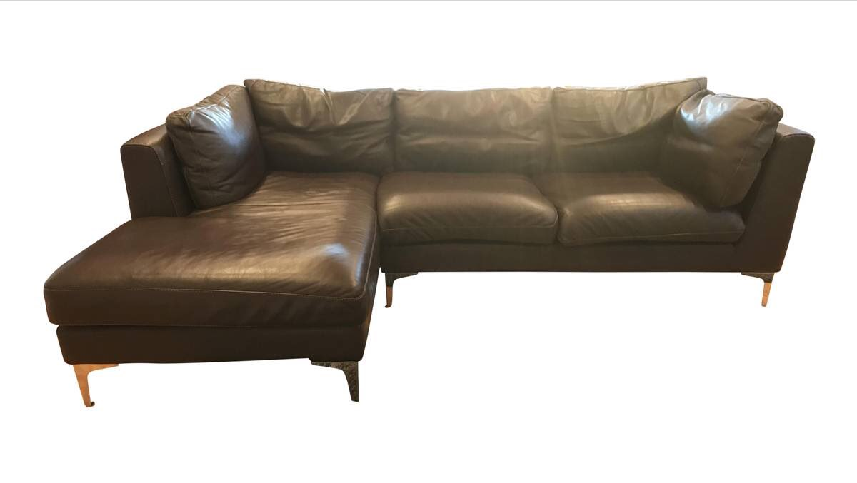 Magnificent Design Within Reach Brown Leather Nicoletti Couch Ncnpc Chair Design For Home Ncnpcorg