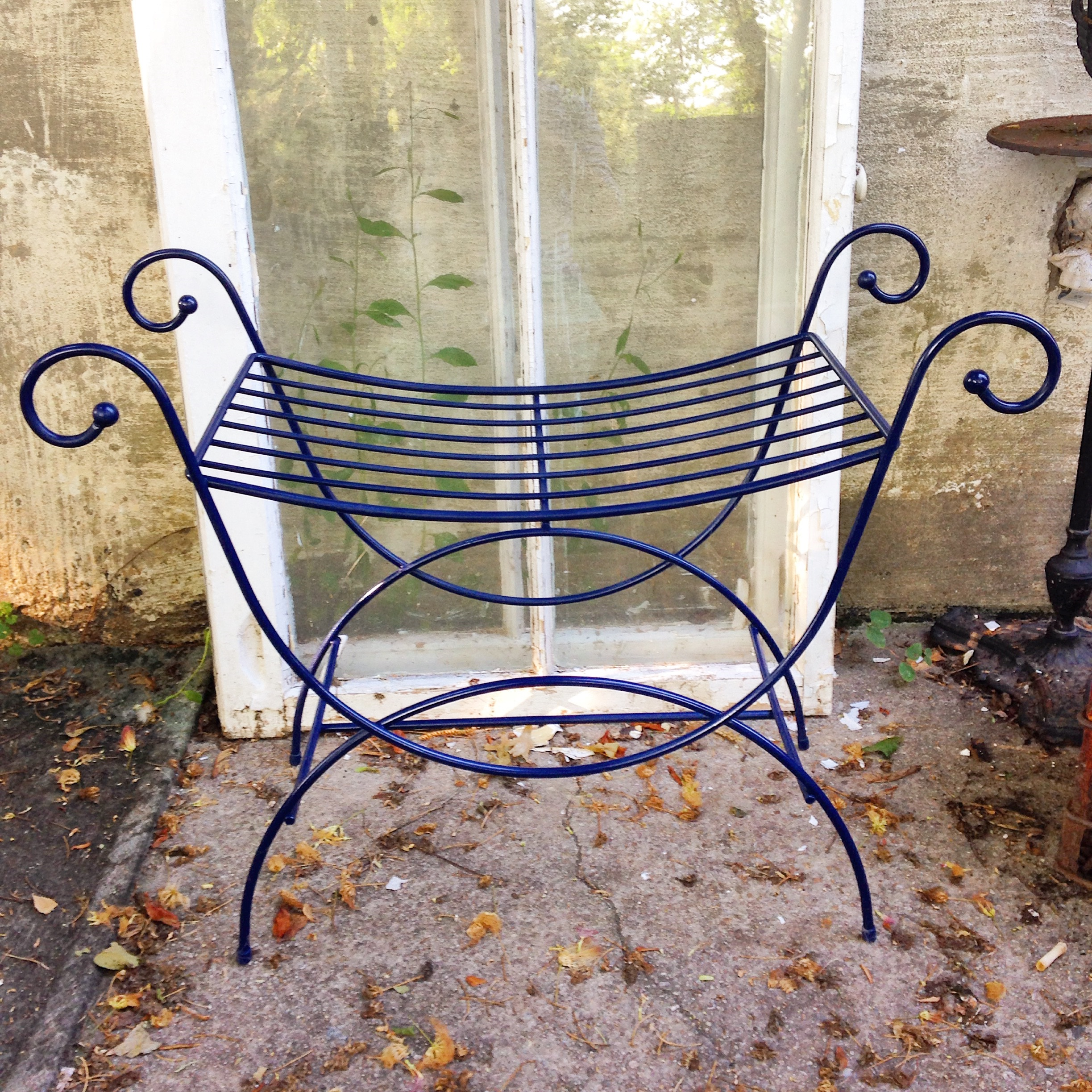 Best Mcm Chair Navy Blue Mid Century Bench Apartment Therapy