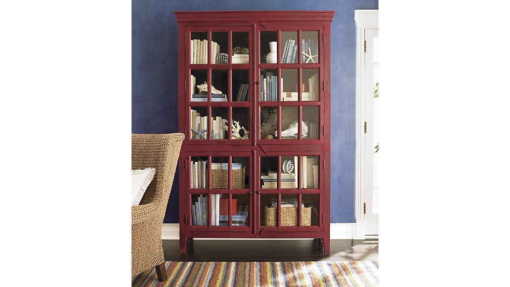 Crate U0026 Barrel Rojo Red Tall Cabinet   Apartment Therapy Marketplace  Classifieds