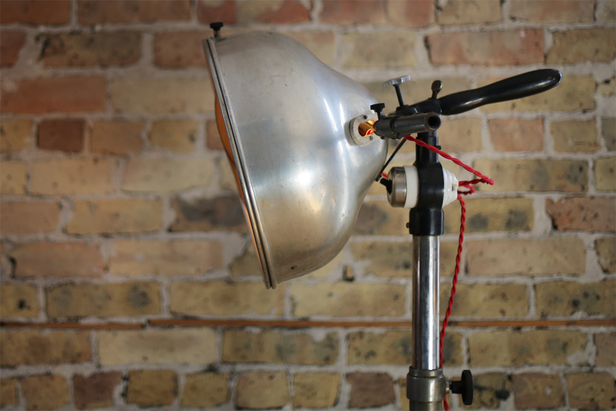 Vintage Industrial Carbon Arc Lamp Made Friendly