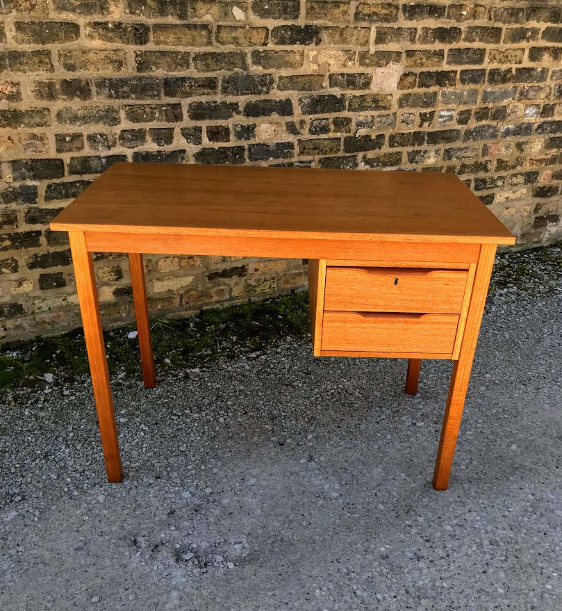 Danish Modern Teak Writing Desk By Bent Silberg