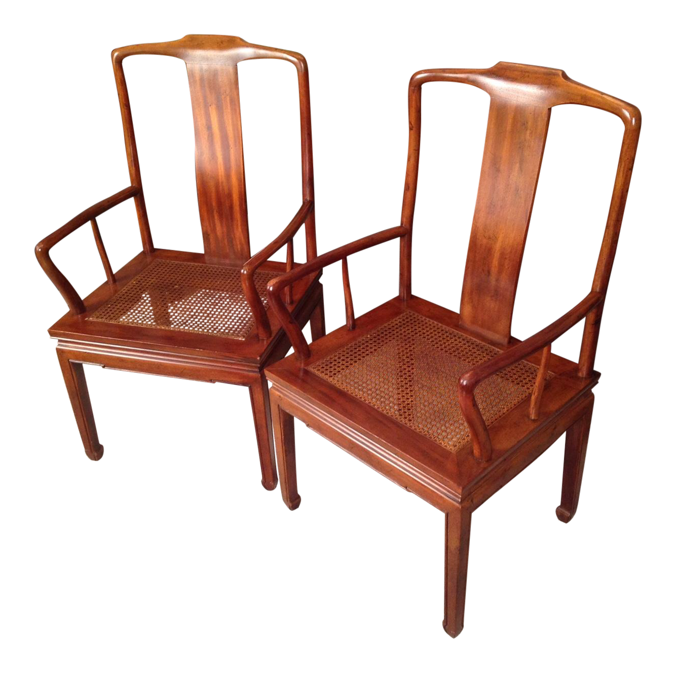 Henredon Asian Chinese Dining Arm Chairs / Pair