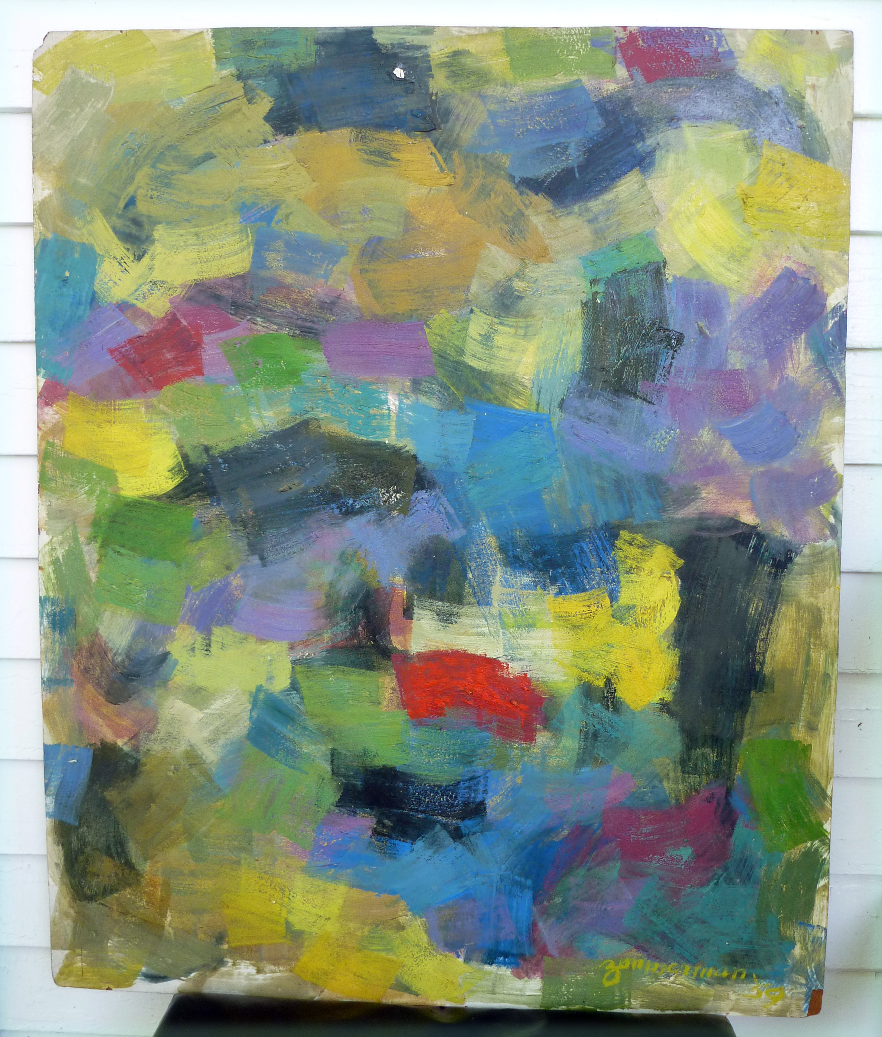 1959 Abstract Painting Zimmerman Cranbrook Academy