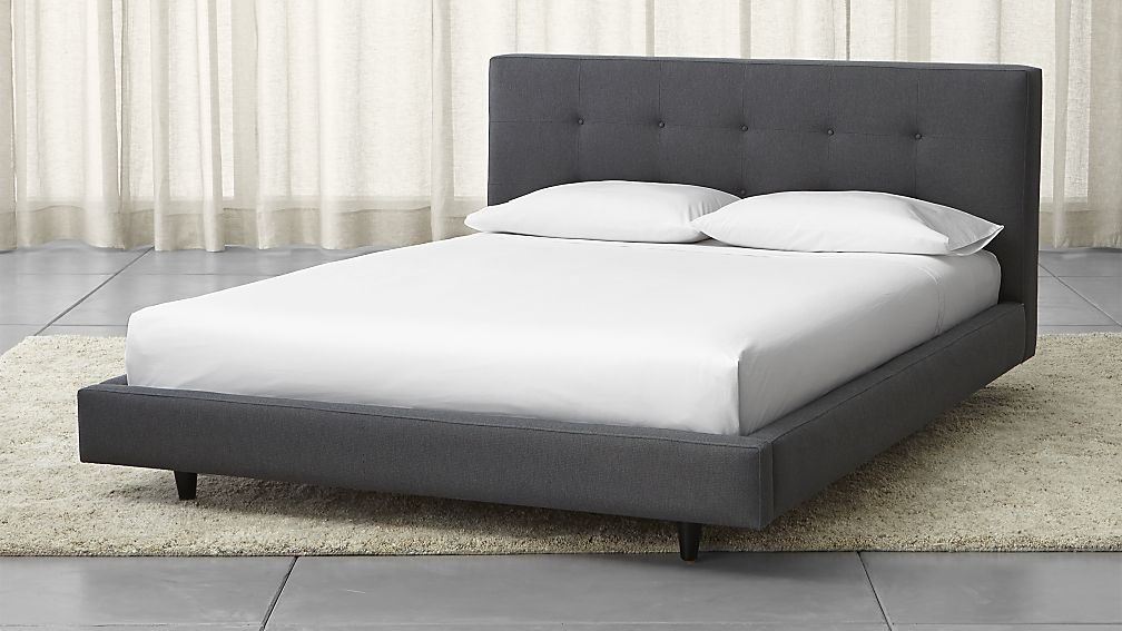 Crate Barrel Tate Upholstered Queen Bed Apartment Therapy S Bazaar