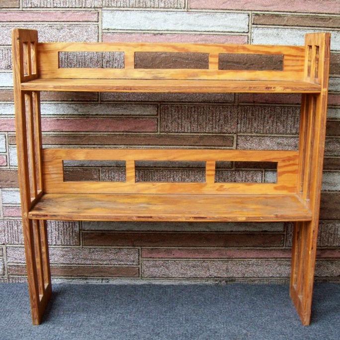 Wood Bookshelf Craftsman Mission Style Handmade