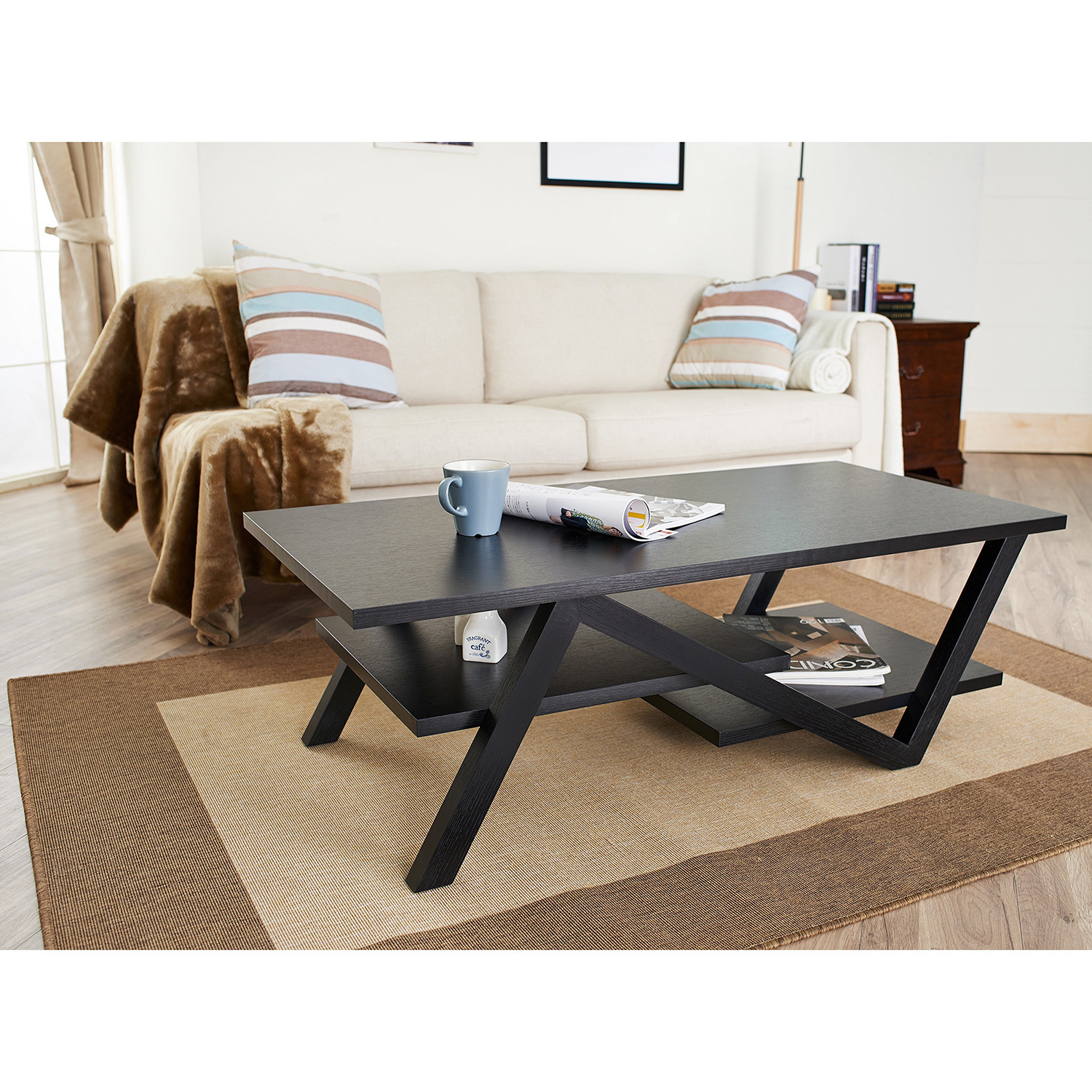 Furniture of america zoe modern coffee table apartment therapys bazaar