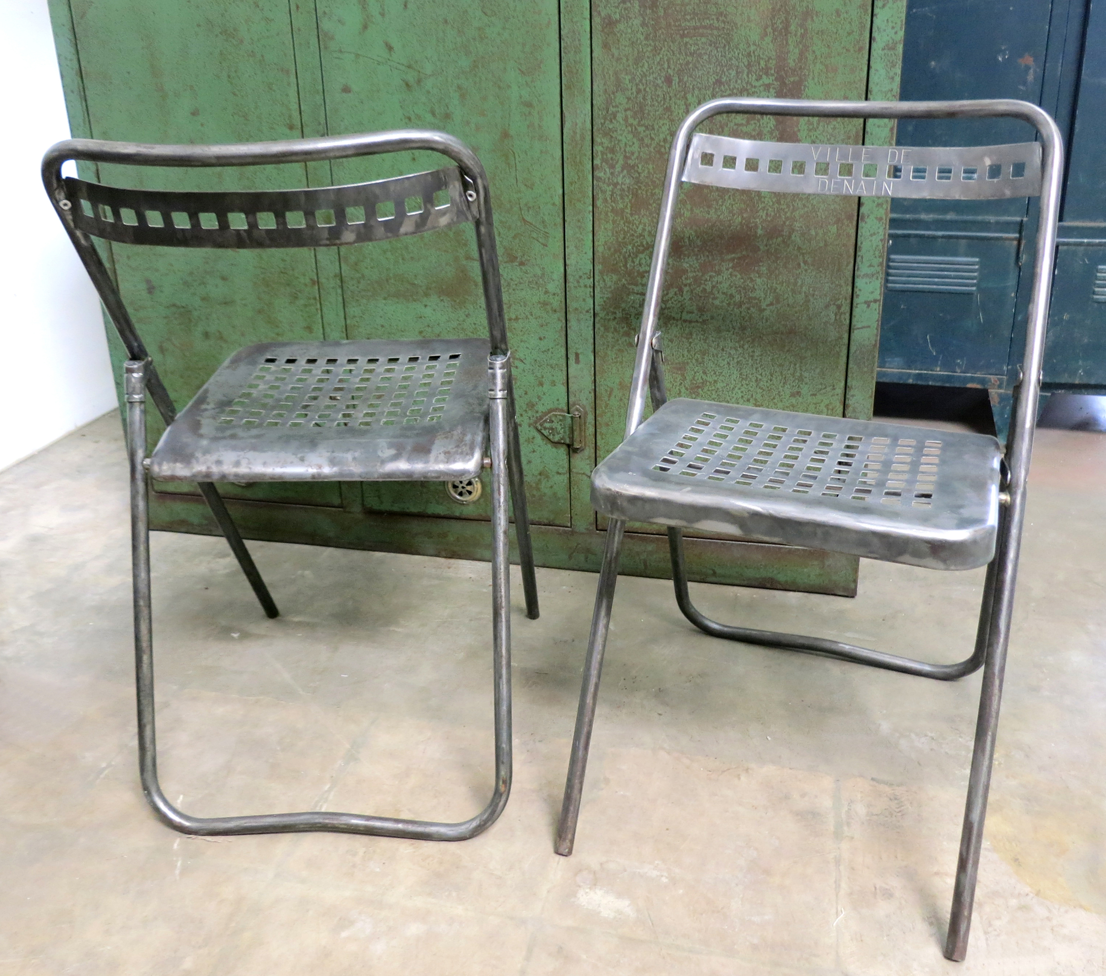 French Industrial Vintage Metal Chairs Apartment Therapy Marketplace  Classifieds