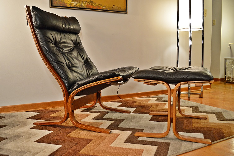 Mid Century Westnofa Hight Back Siesta Chair/Ottom   Apartment Therapy  Marketplace Classifieds