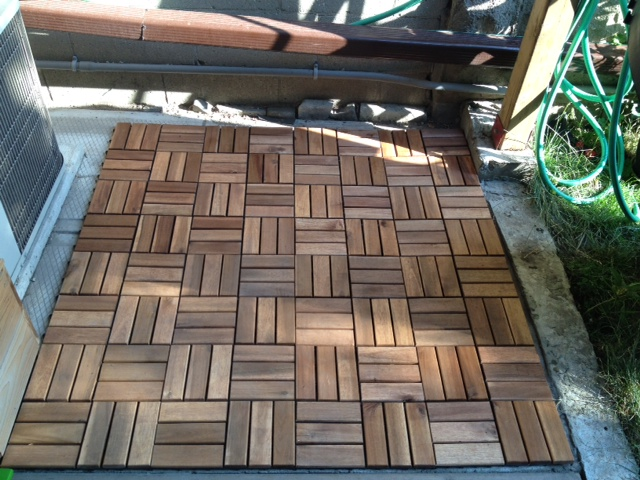 Ikea Platta Wood Decking Tiles 9pack New Apartment Therapy