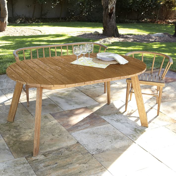 Elegant Outdoor Table + Chairs -- West Elm Dexter