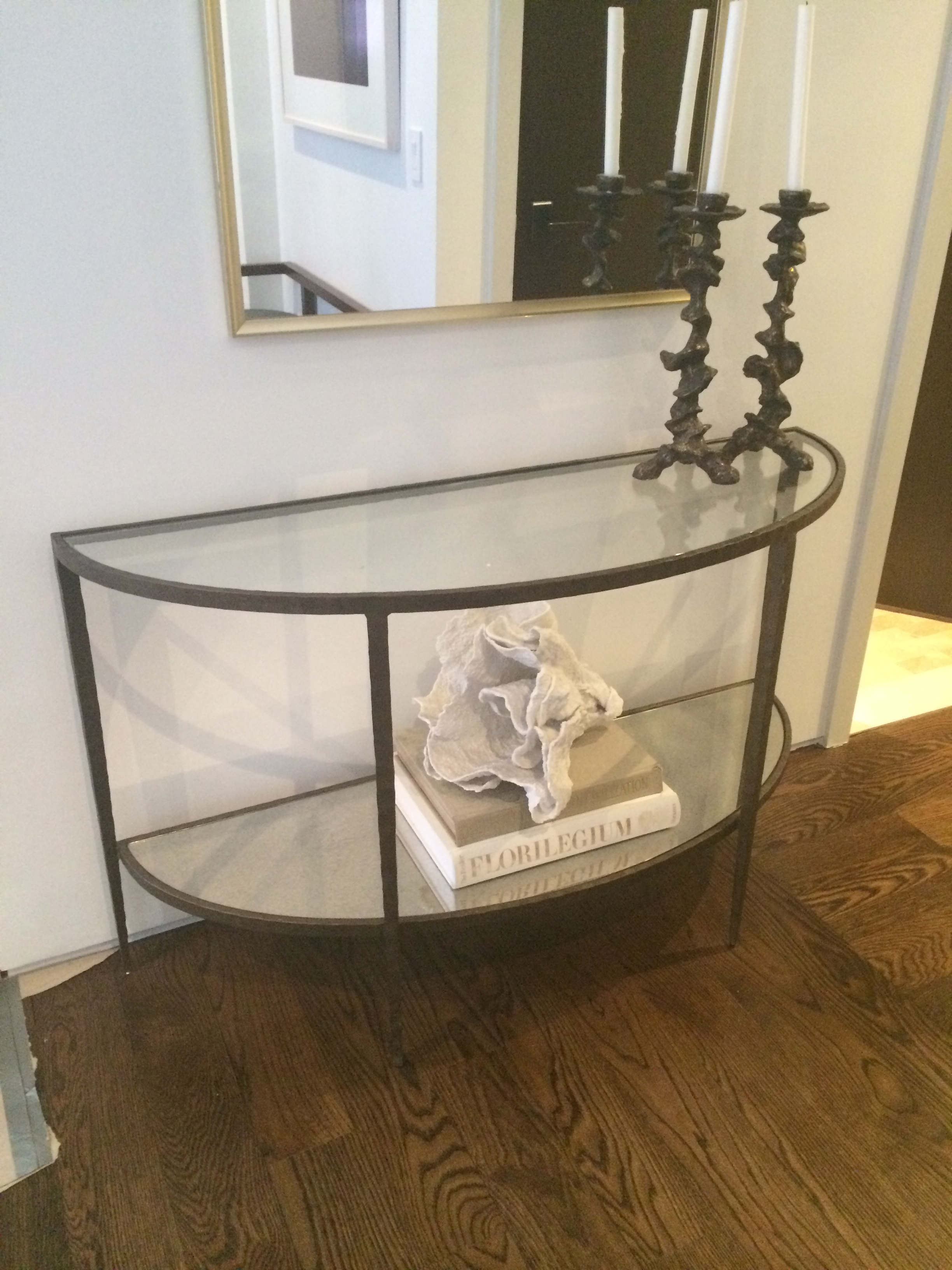 Crate U0026 Barrel Clairemont Demilune Console Table   Apartment Therapy  Marketplace Classifieds