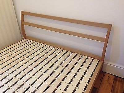 quality design 97aa1 3d2b9 Muji Ash Bed Frame (Full/Double) + Bedside Table