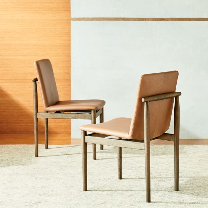 & 3 West Elm Framework Leather Dining Chairs - Apartment Therapyu0027s Bazaar.