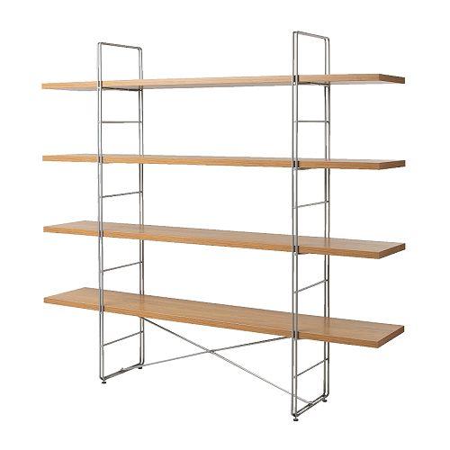 Ikea Enetri Shelving Unit 60 Oak Chrome Apartment Therapy Marketplace Classifieds