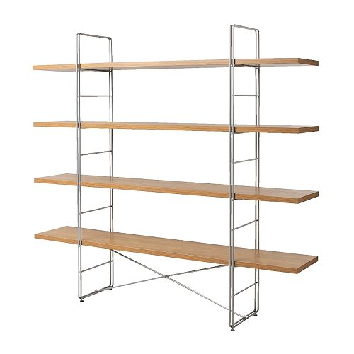 Ikea Enetri Shelving Unit 60 Oak Chrome