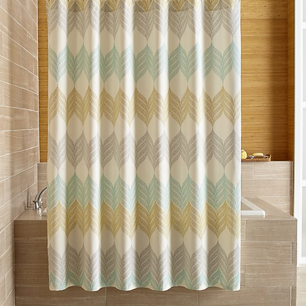 new crate and barrel sheesha leaf shower curtain apartment therapy marketplace classifieds - Crate And Barrel Curtains