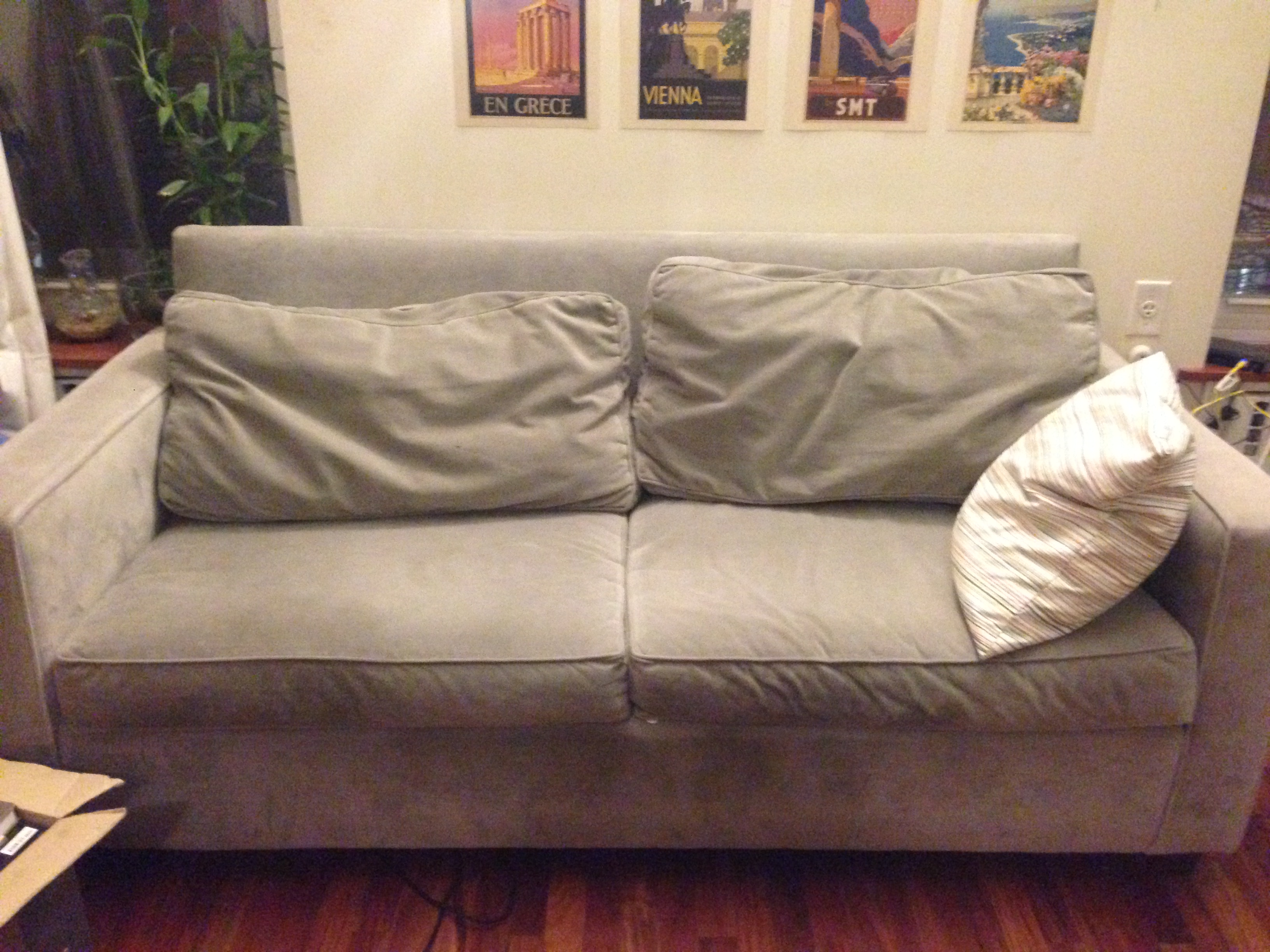 Astonishing West Elm Henry Sofa Gray 76 Lightly Used 250 Pabps2019 Chair Design Images Pabps2019Com