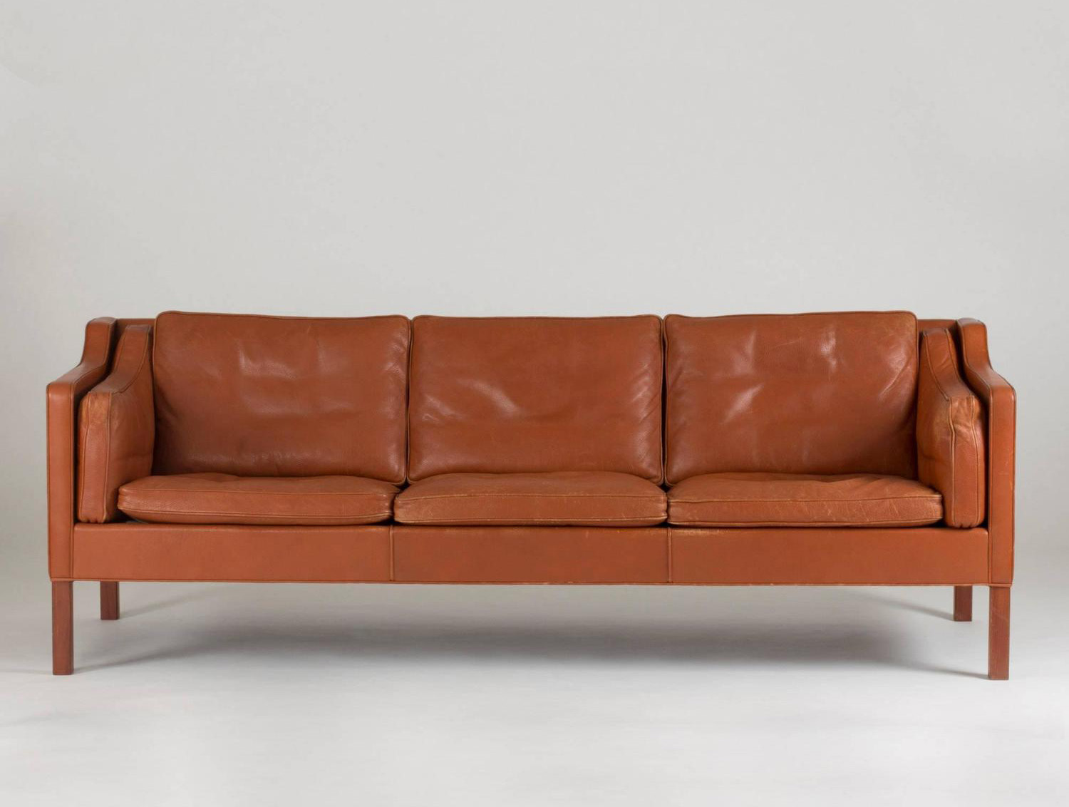 Leather sofa by børge mogensen