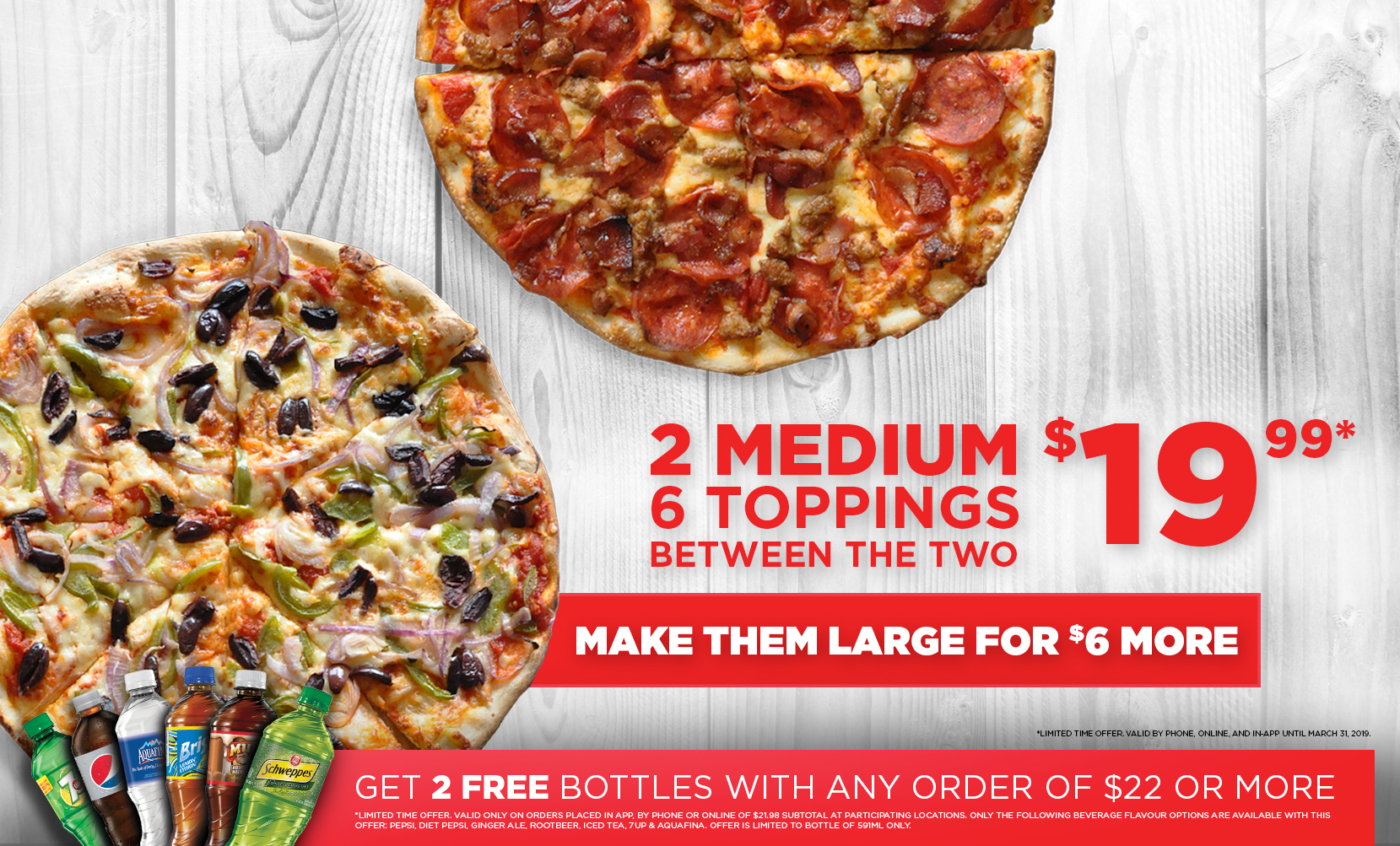 large 5 topping desktop