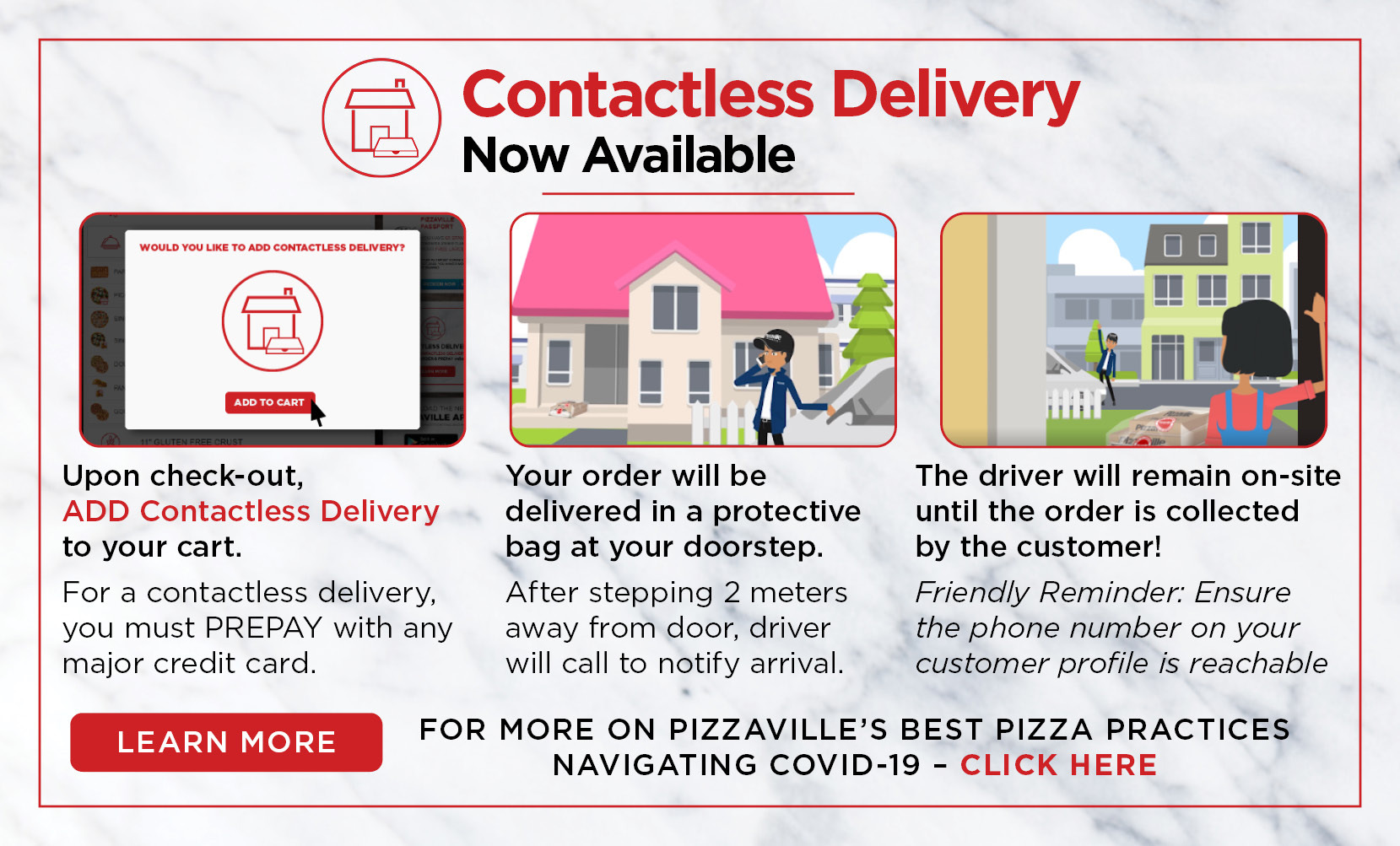 contactless delivery information