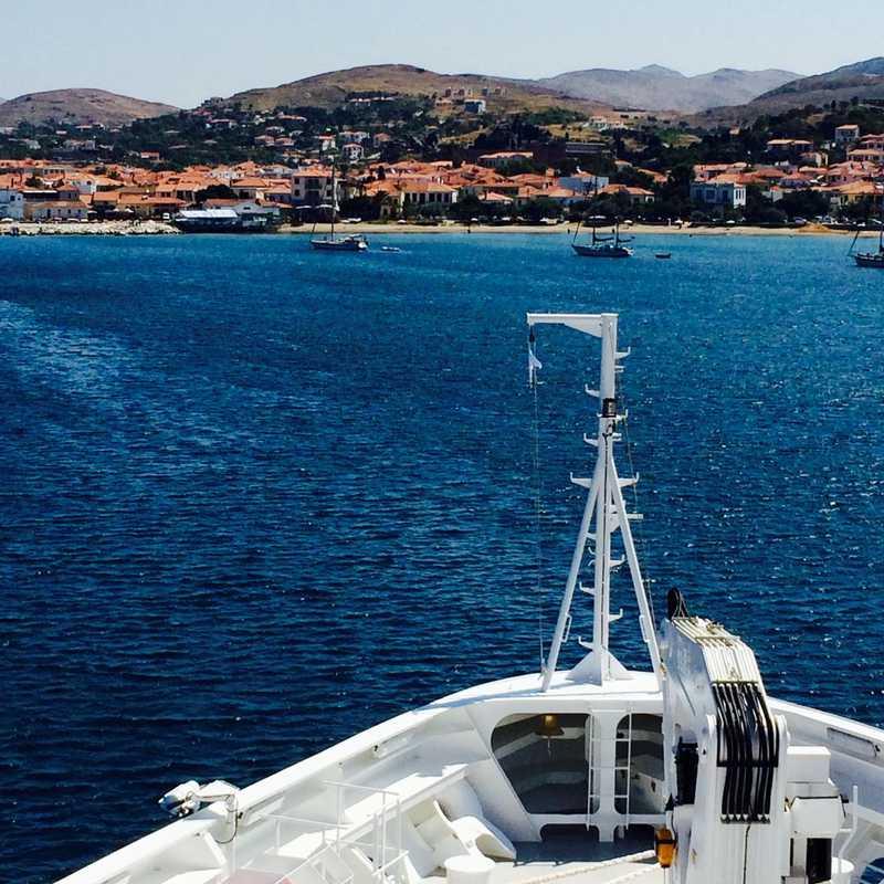 Arriving at Limnos (Myrina)