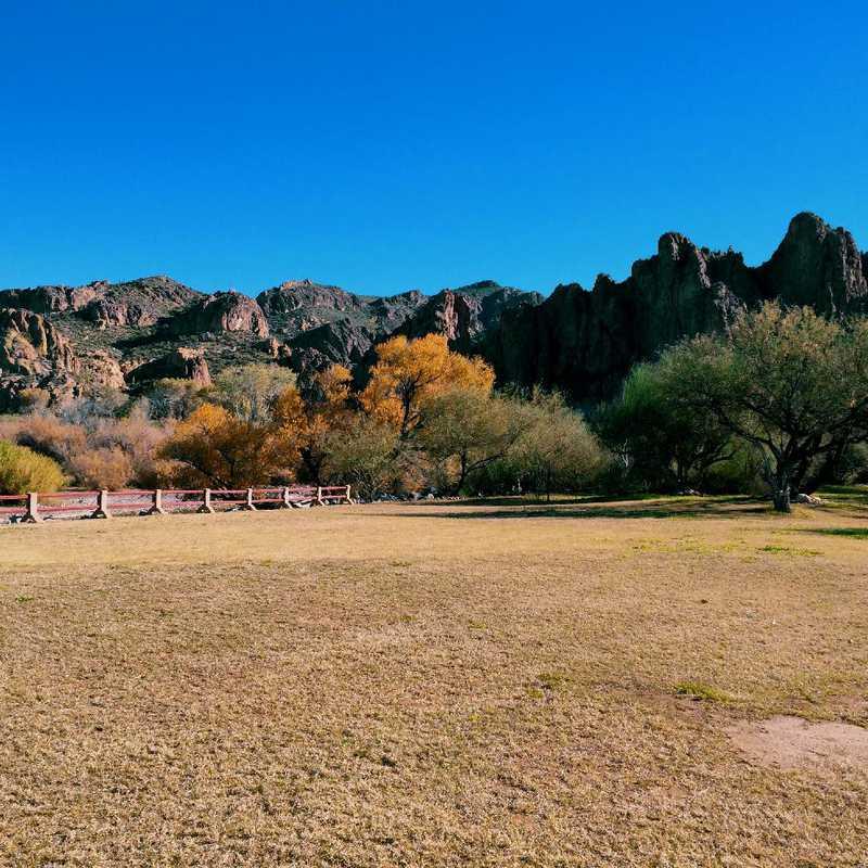Hike around Saguaro Lake Ranch
