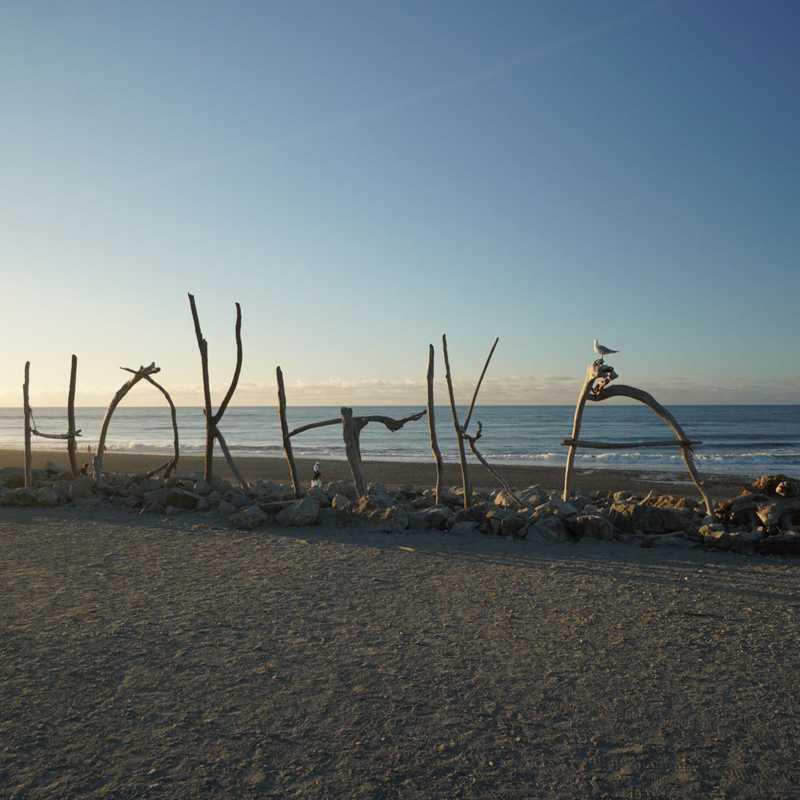 Hokitika Beach Sign
