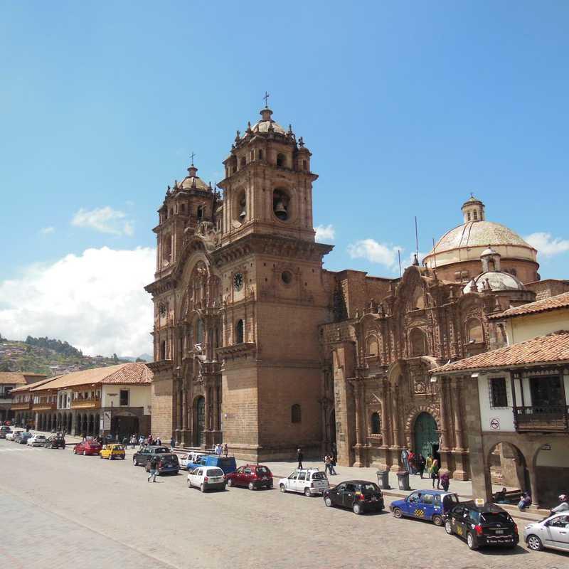 A lindíssima catedral católica em Cuzco