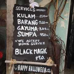 Witchcraft Menu 😂