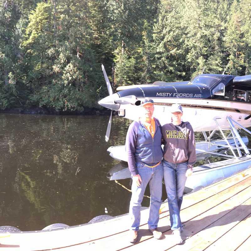 Misty fjords float plane ponthoon