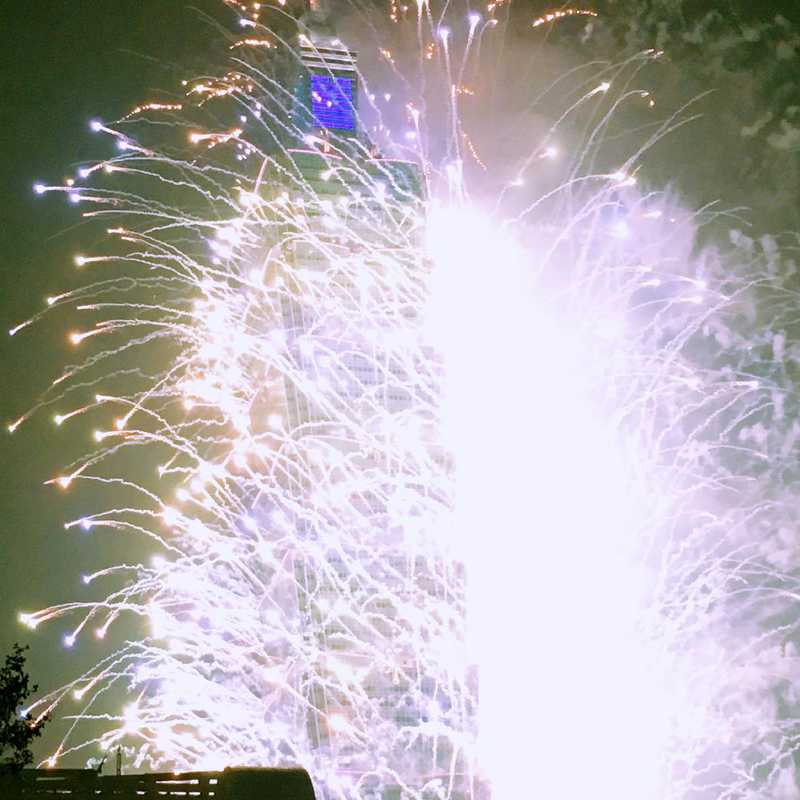 NYE Fireworks at Taipei 101