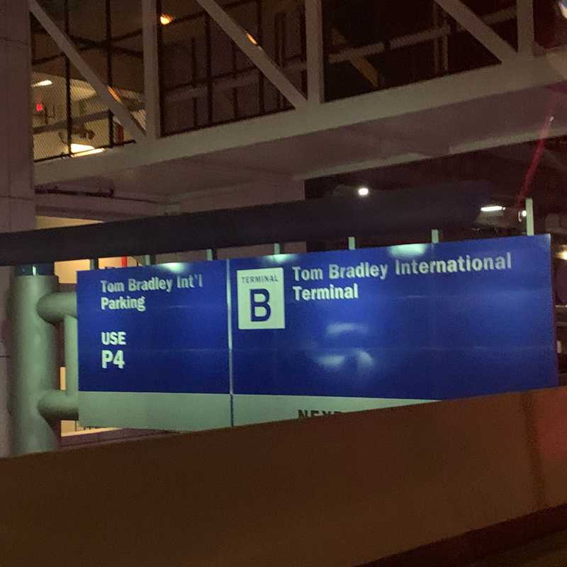 LAX Tom Bradley International Terminal (TBIT) Upper Level FlyAway Stop