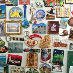 My uncle's refrigerator magnet collection