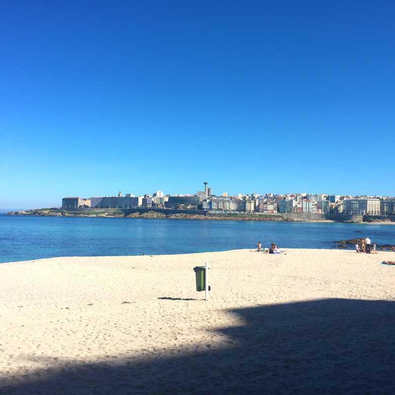 Playa de Riazor (La Coruña)
