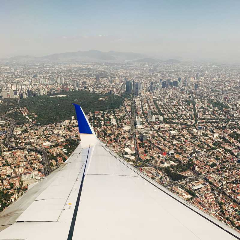Arrival in Mexico City