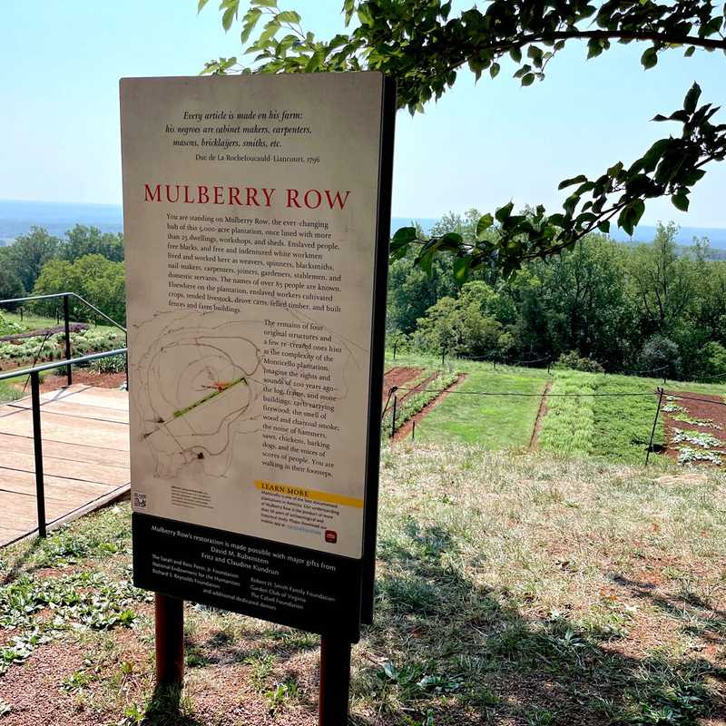 Monticello Slavery Tour
